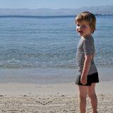 Maillot de bain short garçon et tee-shirt rayé anti-UV Little Duck