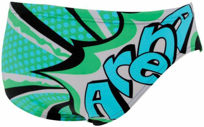 Maillot de bain slip garçon piscine vert Sarseille