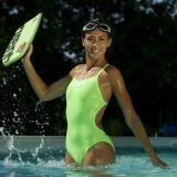 Maillot de bain sport une pièce vert