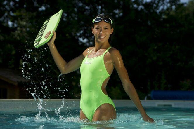 Maillot de bain sport une pièce vert par Arena