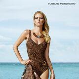 Maillot de bain une-pièce brun motif ethnique Maryan Mehlhorn