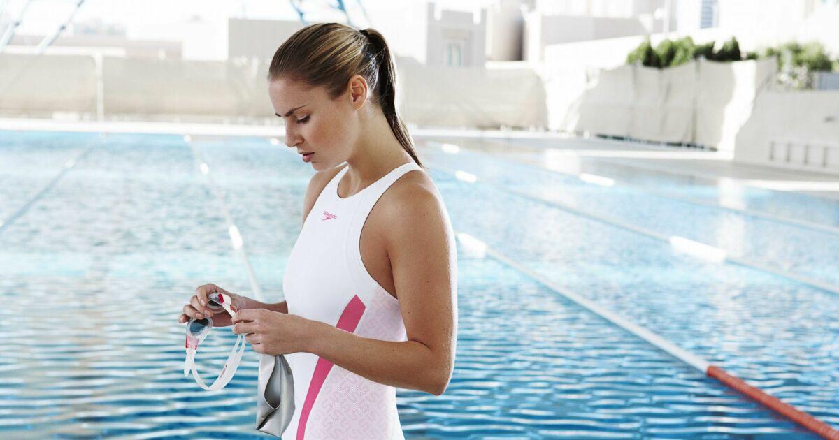 maillot de bain une pi ce blanc et rose piscine speedo swim fitness 2013. Black Bedroom Furniture Sets. Home Design Ideas