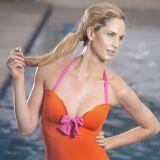 Maillot de bain une pièce femme orange détails fushia Jog Swimwear