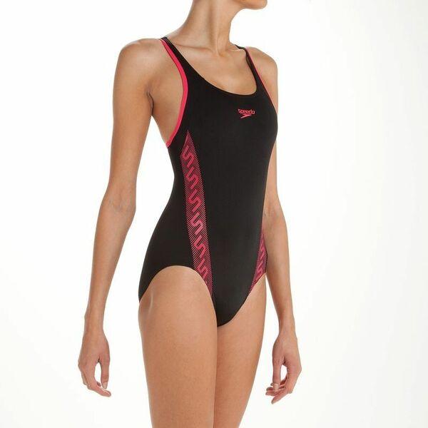 maillot de bain une pi ce pour natation noir et rose. Black Bedroom Furniture Sets. Home Design Ideas