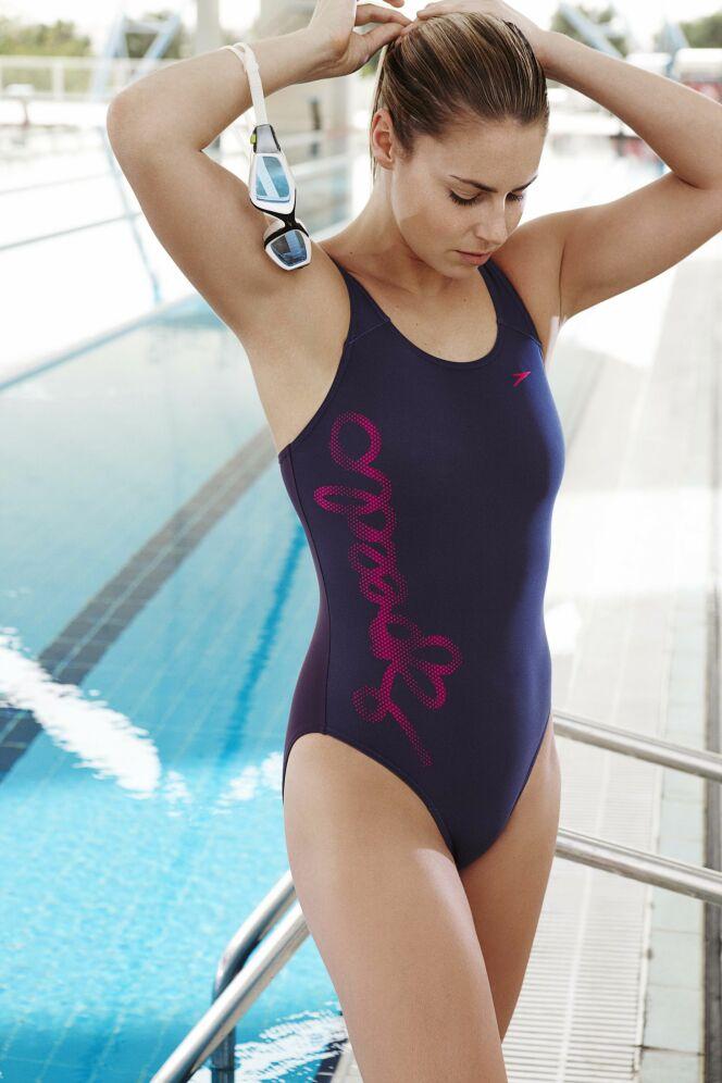 Maillot de bain une pièce violine Speedo Swim Fitness : parfait pour l'aquagym !