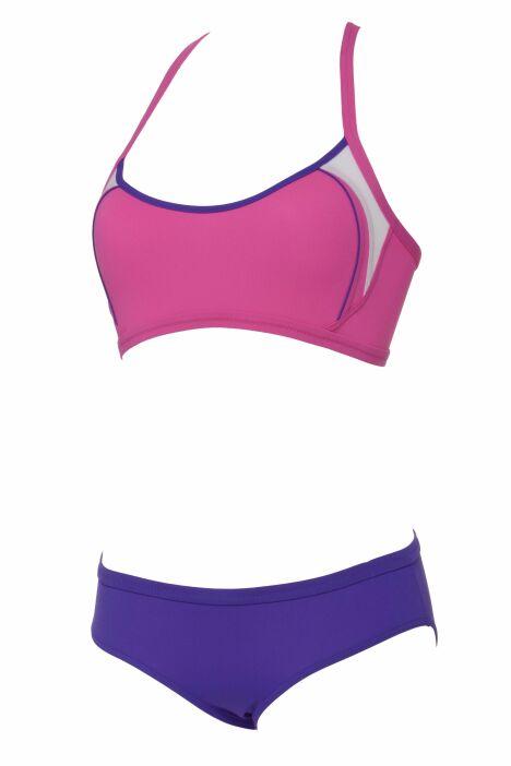"""Maillot deux pièces piscine rose et violet Tulsi Aqua Sphere<span class=""""normal italic petit"""">© Aqua Sphere</span>"""