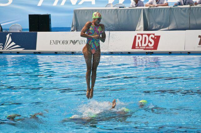 Maillot natation synchronisée