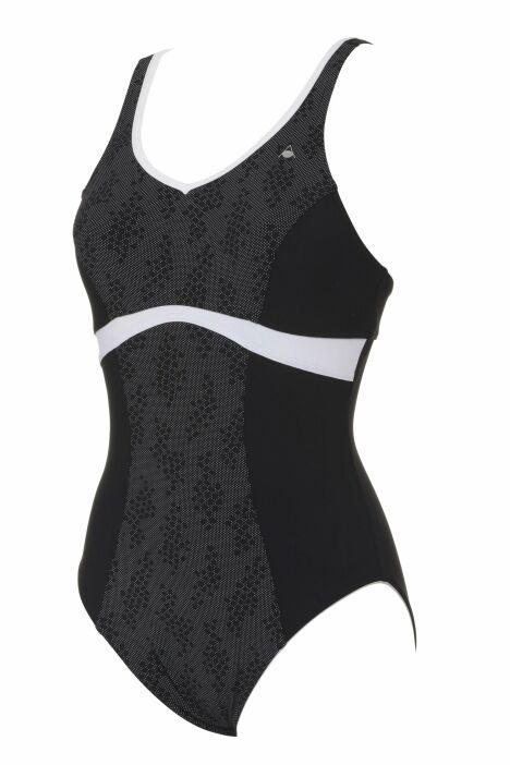 Maillot une pièce aquagym et natation noir et blanc Amanda Aqua Sphere