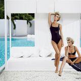 Maillots de bain femme bleu marine détails blanc-doré Maryan Mehlhorn