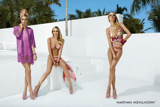Maillots de bain femme et beachwear motif cachemire par Maryan Mehlhorn (été 2013)