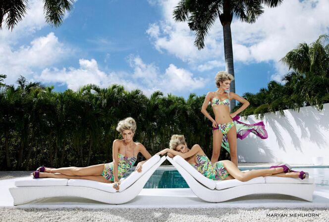 Maillots de bain femme imprimés fleurs exotiques par Maryan Mehlhorn