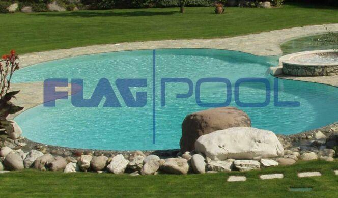 La membrane FlagPool s'adapte à toutes les formes de bassin.