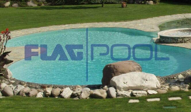 "La membrane FlagPool s'adapte à toutes les formes de bassin.<span class=""normal italic petit"">© FlagPool</span>"