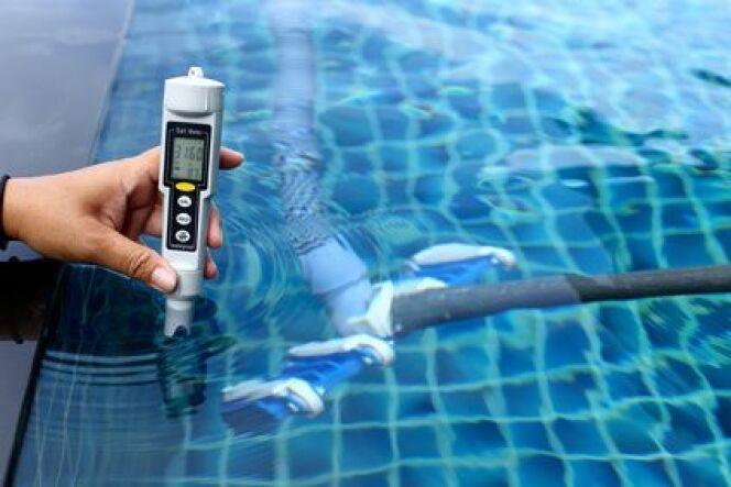 Mesure de la conductivité de l'eau d'une piscine