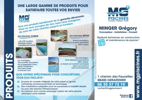 "MG Piscines  <span class=""normal italic petit"">© MG Piscines</span>"