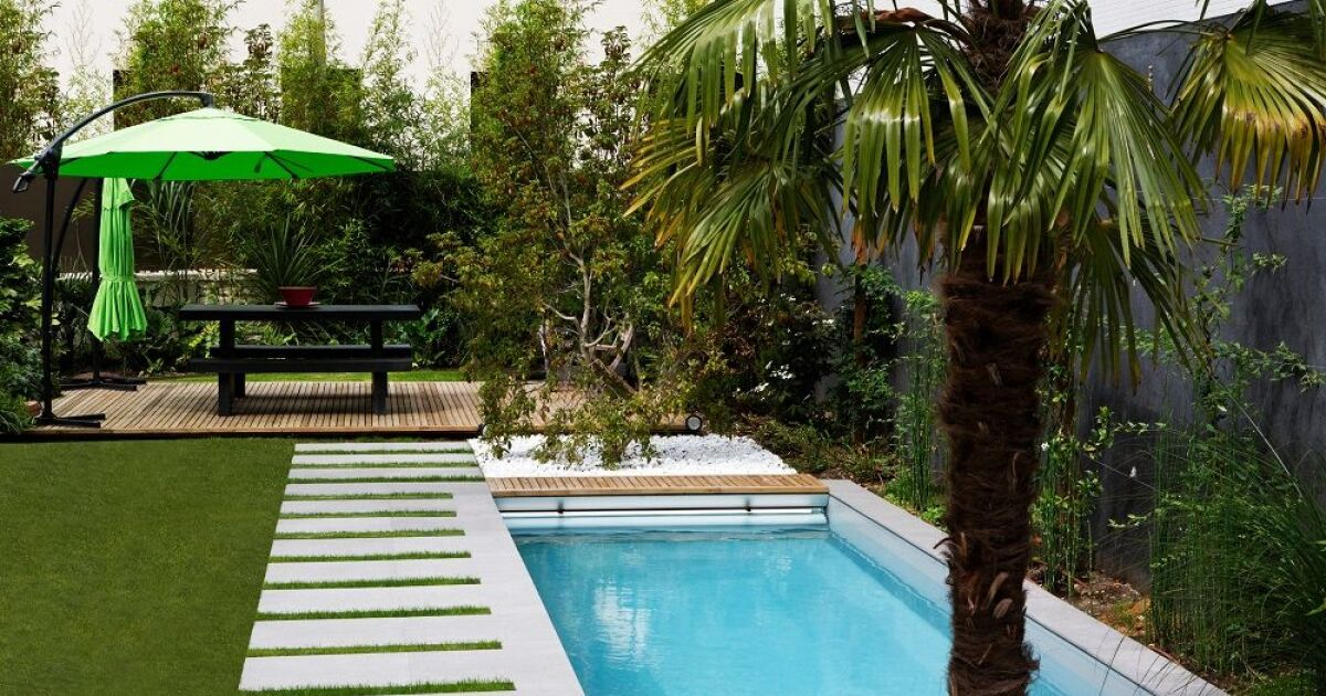 mini piscines 2x6m caron piscines piscine enterr e caron. Black Bedroom Furniture Sets. Home Design Ideas