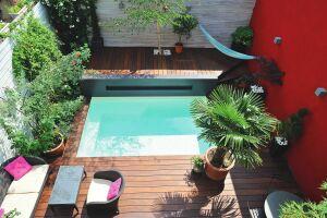 Mini piscine Caron en béton