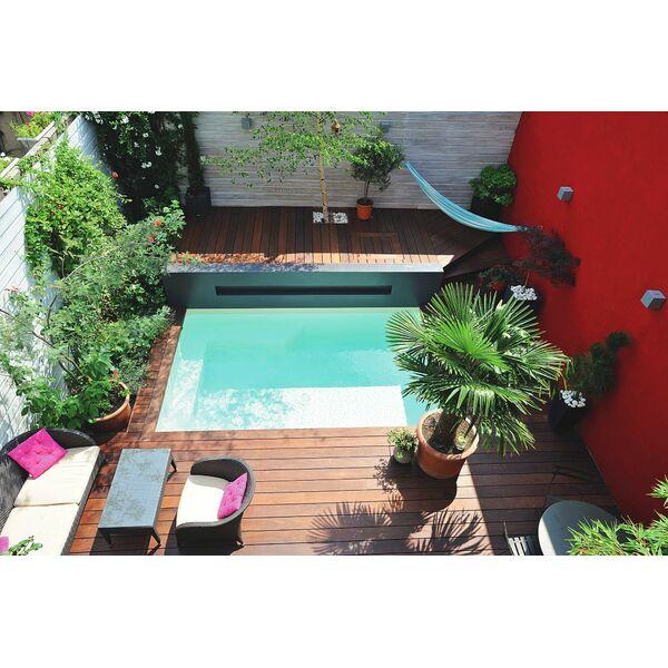 Mini piscine caron piscines piscine enterr e caron piscines - Piscine hors sol profondeur 2m ...