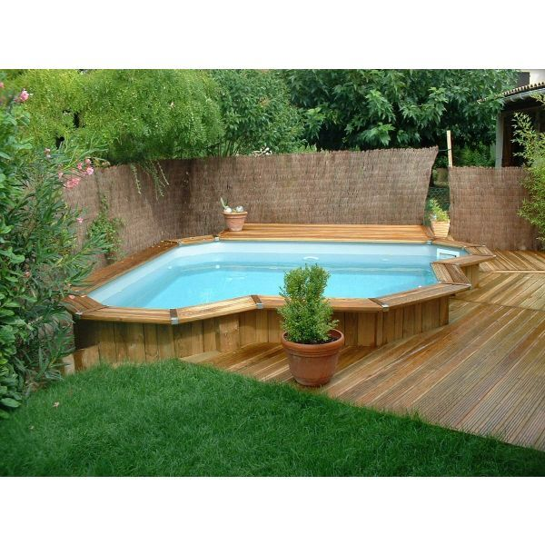 Mini piscine en bois bluewood for Construire une piscine