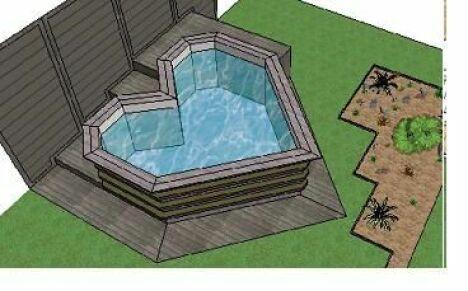 "Mini piscine en bois Bluewood<span class=""normal italic petit"">© Bluewood</span>"