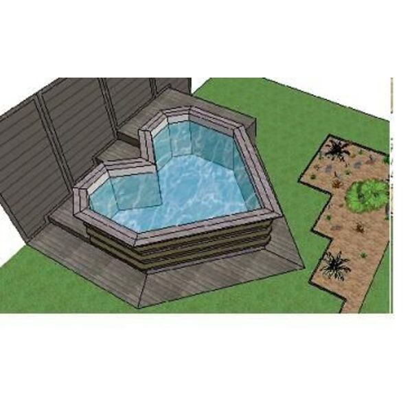 Mini piscine en bois bluewood for Mini piscine