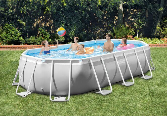 Modèle de piscine hors-sol Prism Frame ovale
