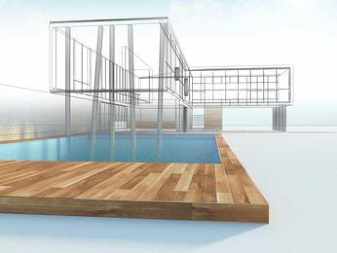 """La modélisation 3D de votre future piscine vous permet de déterminer efficacement son futur emplacement dans votre jardin.<span class=""""normal italic petit"""">© 1xpert - Fotolia.com</span>"""