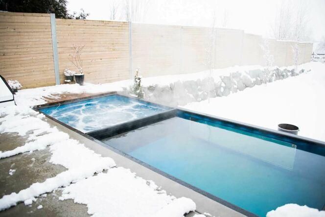 "Modpools, piscines containers avec spa intégré<span class=""normal italic petit"">© Modpools</span>"
