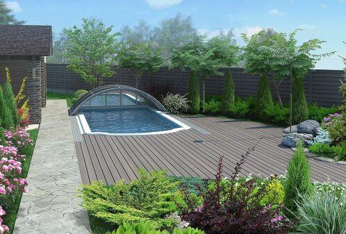 Montage d'un abri de piscine