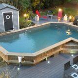Le montage d'une piscine en bois