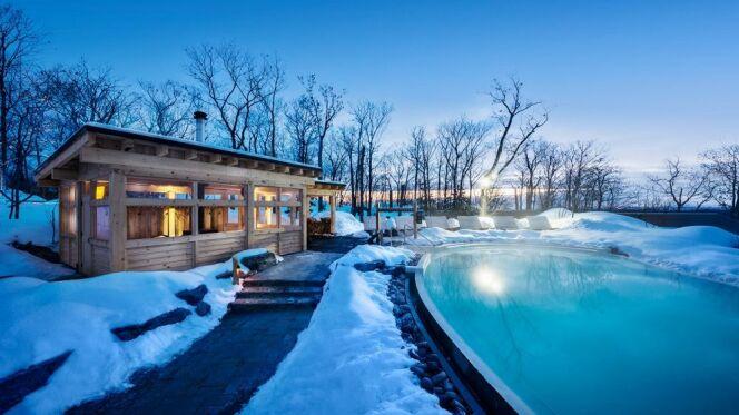 nordik spa nature le plus grand spa d am rique du nord. Black Bedroom Furniture Sets. Home Design Ideas