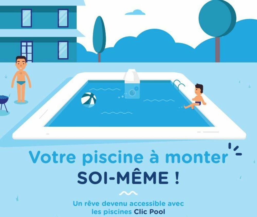 Nouveau concept de piscine en kit : Clic Pool© Clic Pool