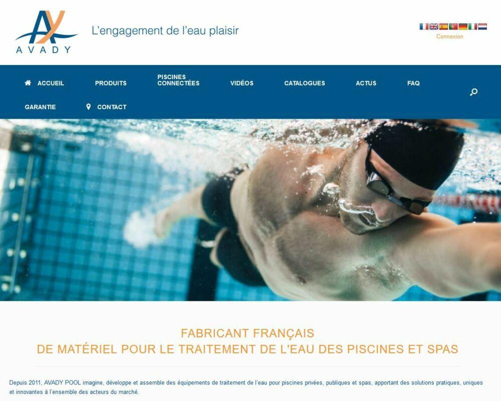 Nouveau site web Avady Pool© Avady Pool