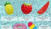 Une salade de fruits dans votre piscine