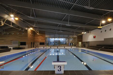 """Le bassin sportif de la piscine Aquabresse à Louhans<span class=""""normal italic petit"""">DR</span>"""