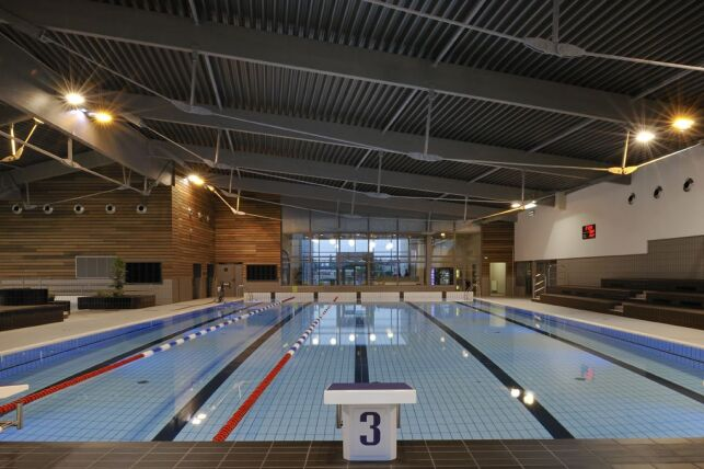 Le bassin sportif de la piscine Aquabresse à Louhans