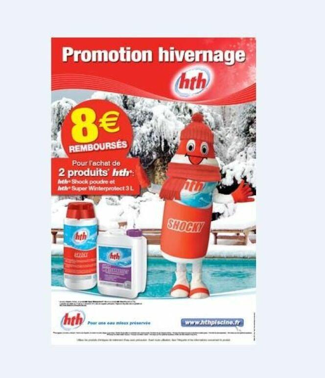 Offre spéciale hivernage de la piscine sur le site hth