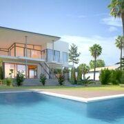 Une piscine d'angle