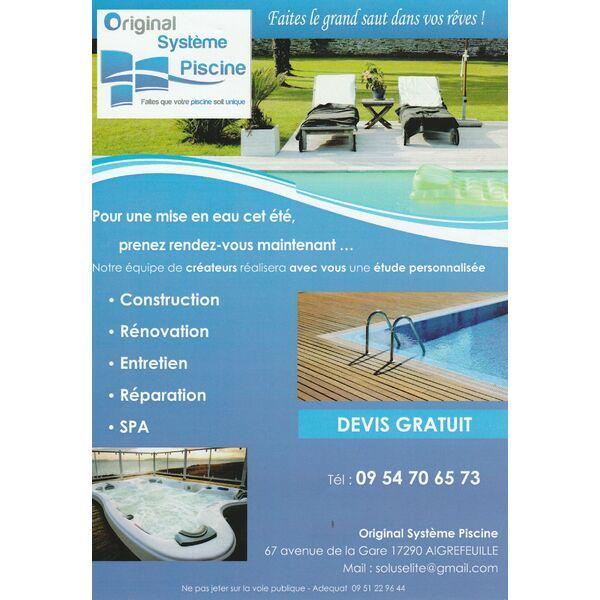 Original systeme piscine aigrefeuille d 39 aunis for Construction piscine 65
