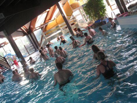"""Les séances d'aquaygm à la piscine de Fontaine Simon<span class=""""normal italic petit"""">DR</span>"""