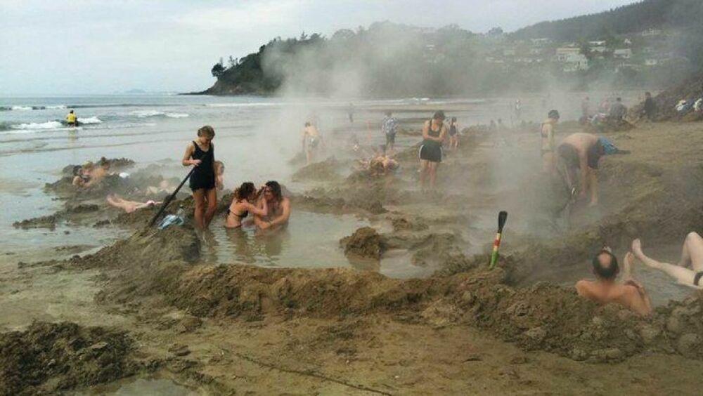 Pas d'inquiétude, la marée se chargera de reboucher les trous© newzealand.com