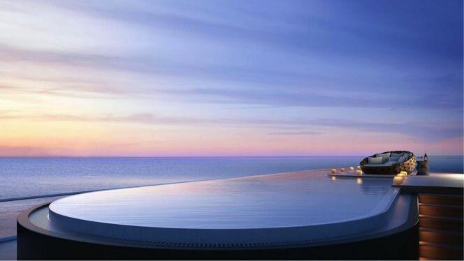 Piscine du penthouse du Faena à Miami