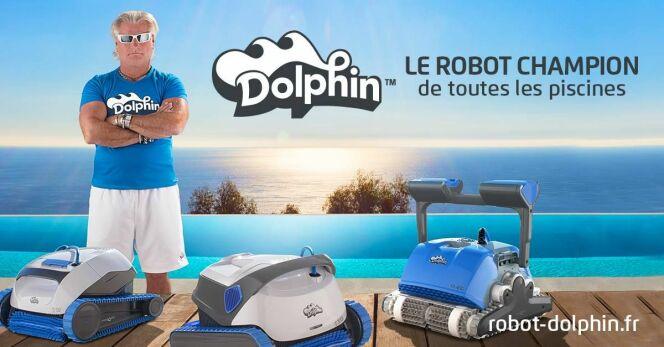 Philippe Lucas, ambassadeur des robots de piscine Dolphin