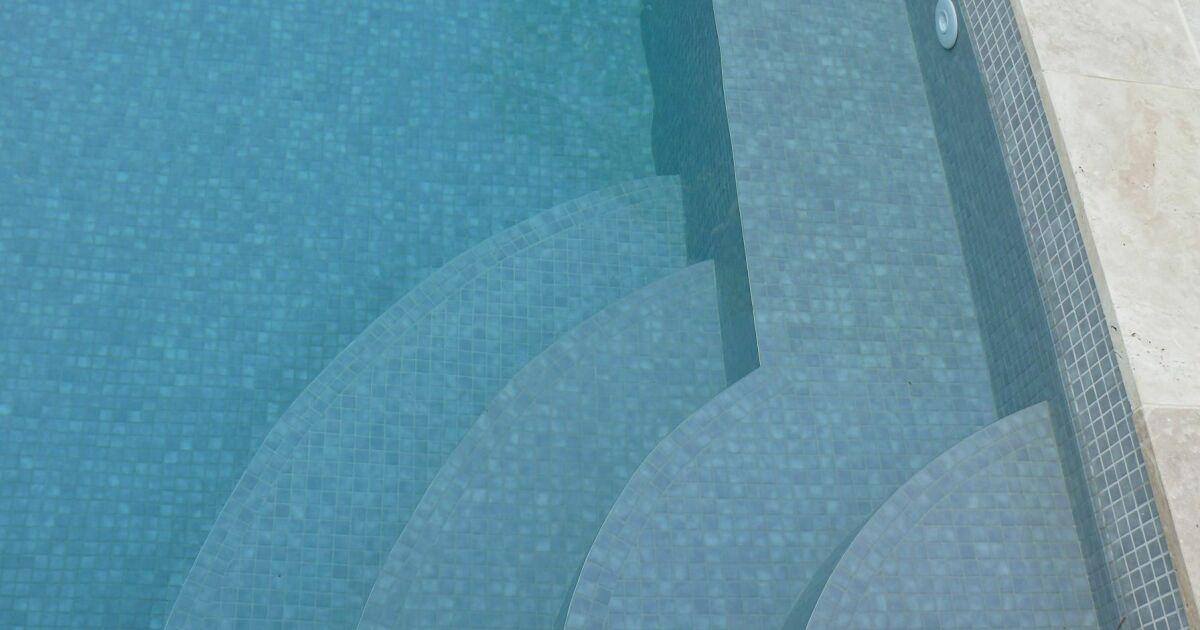 Escaliers de piscine et plages immerg es piscine avec for Escalier piscine