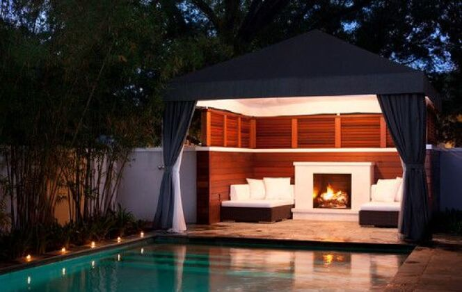 Photos de pool houses © David Conners + Associates