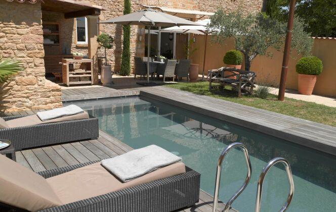 Photos de terrasses de piscine © Carré Bleu - Photo François Deladerrière - Realisation BB Jardin