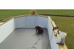 Pose de PVC armé piscine bois toulon