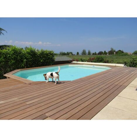 "Piscine 8 pans en bois enterrée Arizona Pool   <span class=""normal italic petit"">© Arizona Pool</span>"