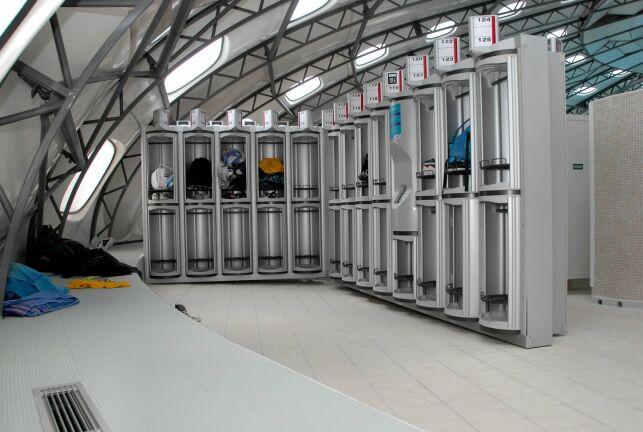 Les nouveaux casiers automatiques de la piscine de Cagnes sur Mer