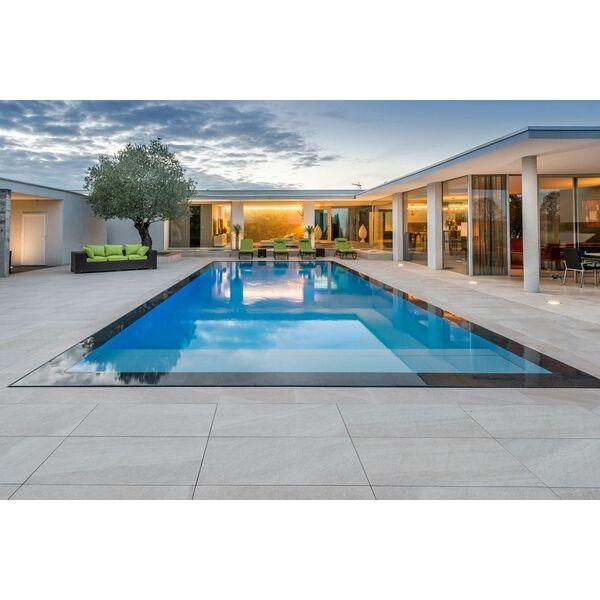 piscine miroir d bordement carr bleu piscine enterr e. Black Bedroom Furniture Sets. Home Design Ideas